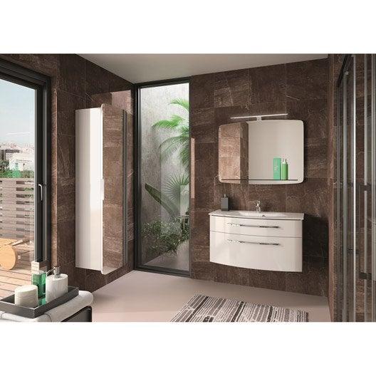 meuble de salle de bains image blanc 90 cm leroy merlin. Black Bedroom Furniture Sets. Home Design Ideas