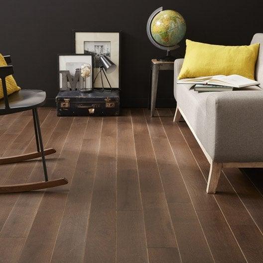 parquet massif ch ne brun fonc huil l artens solid leroy merlin. Black Bedroom Furniture Sets. Home Design Ideas