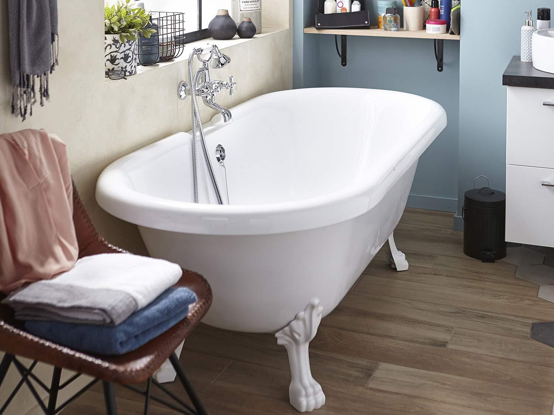 Baignoire rectangulaire cm blanc ideal - Baignoire 130 x 70 leroy merlin ...