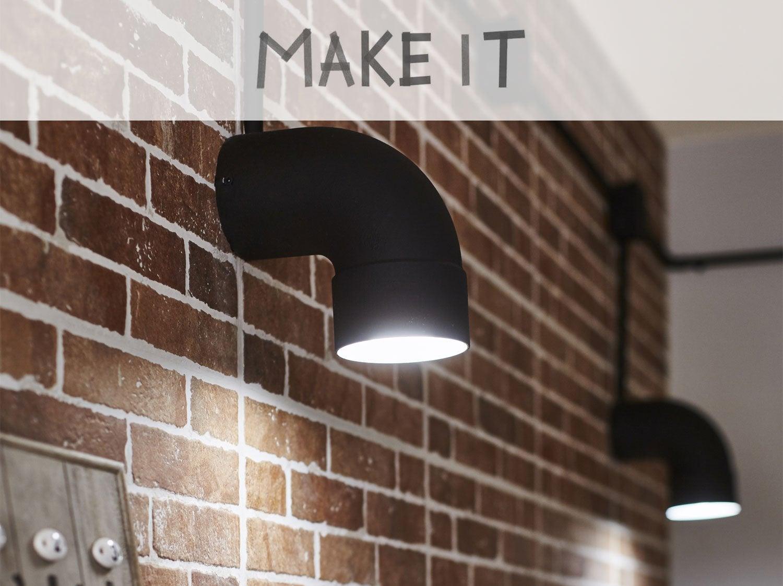 DIY : Fabriquer une applique au style industriel