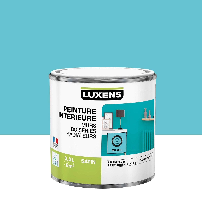 Peinture mur, boiserie, radiateur Multisupports LUXENS, miami 4, 0.5 l, satin
