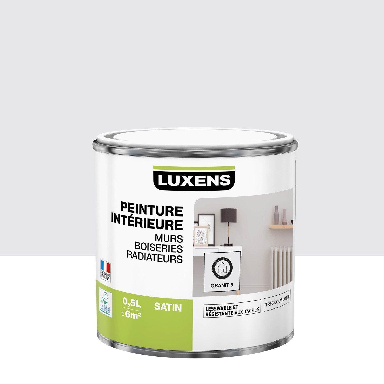 Peinture mur, boiserie, radiateur LUXENS, granit 6 0.5 l, satin