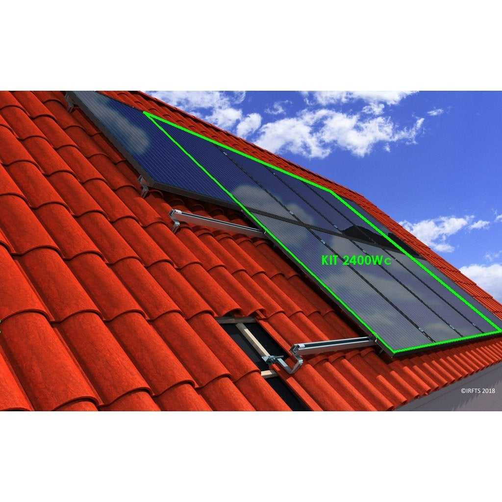 Kit photovoltaïque 2400Wc surimpose toiture | Leroy Merlin