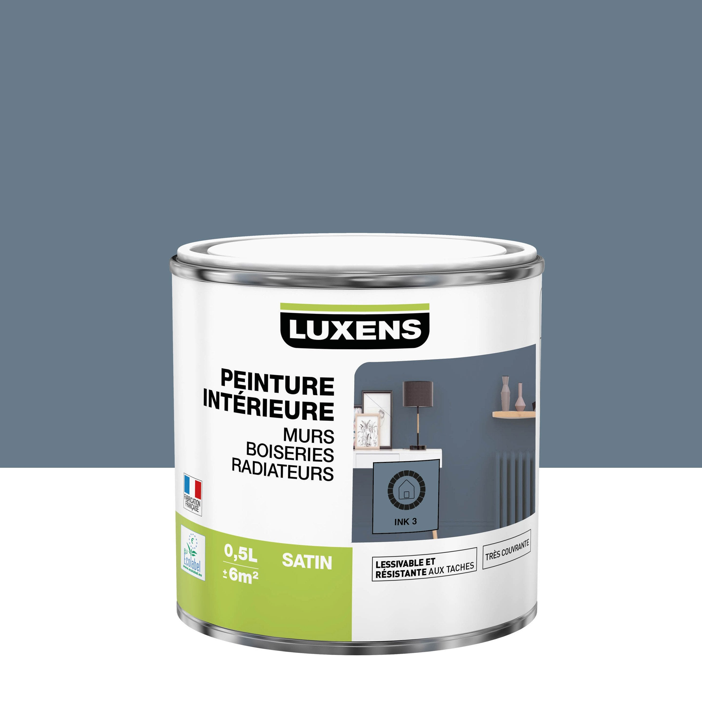 Peinture mur, boiserie, radiateur intérieur Multisupports LUXENS, ink 3, satin,