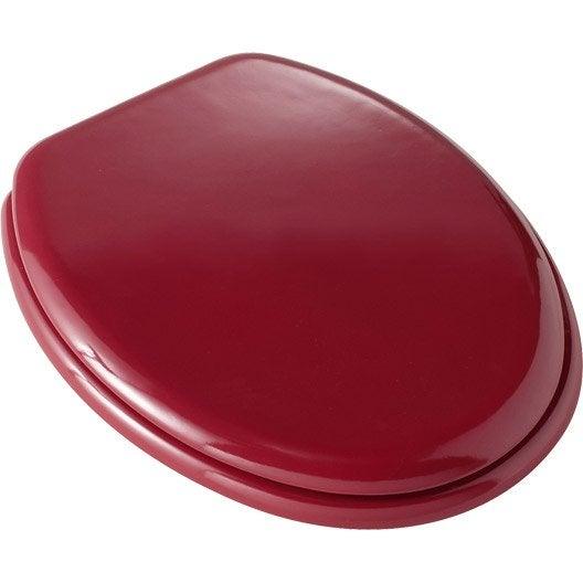 abattant wc sensea young rouge rouge n 5 leroy merlin. Black Bedroom Furniture Sets. Home Design Ideas
