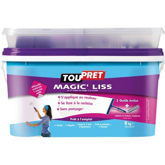 Enduit de lissage pâte Magic liss TOUPRET, 8 kg