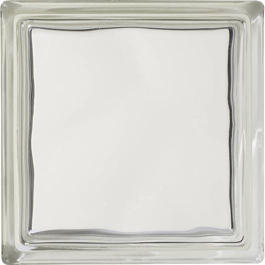 brique de verre transparent lisse double face leroy merlin