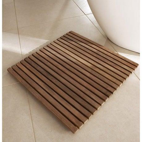 Tapis salle de bains et caillebotis accessoires et - Tapis salle de bain bois ...