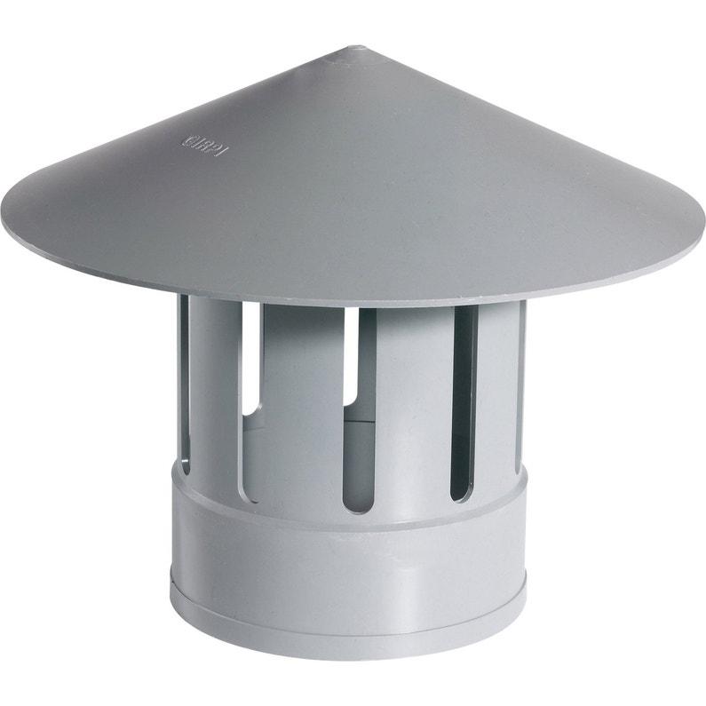 Chapeau De Ventilation Femelle Pvc Gris Girpi Diam160 Mm