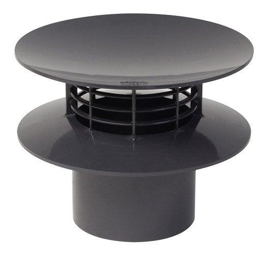 extracteur statique pvc gris ardoise girpi mm. Black Bedroom Furniture Sets. Home Design Ideas