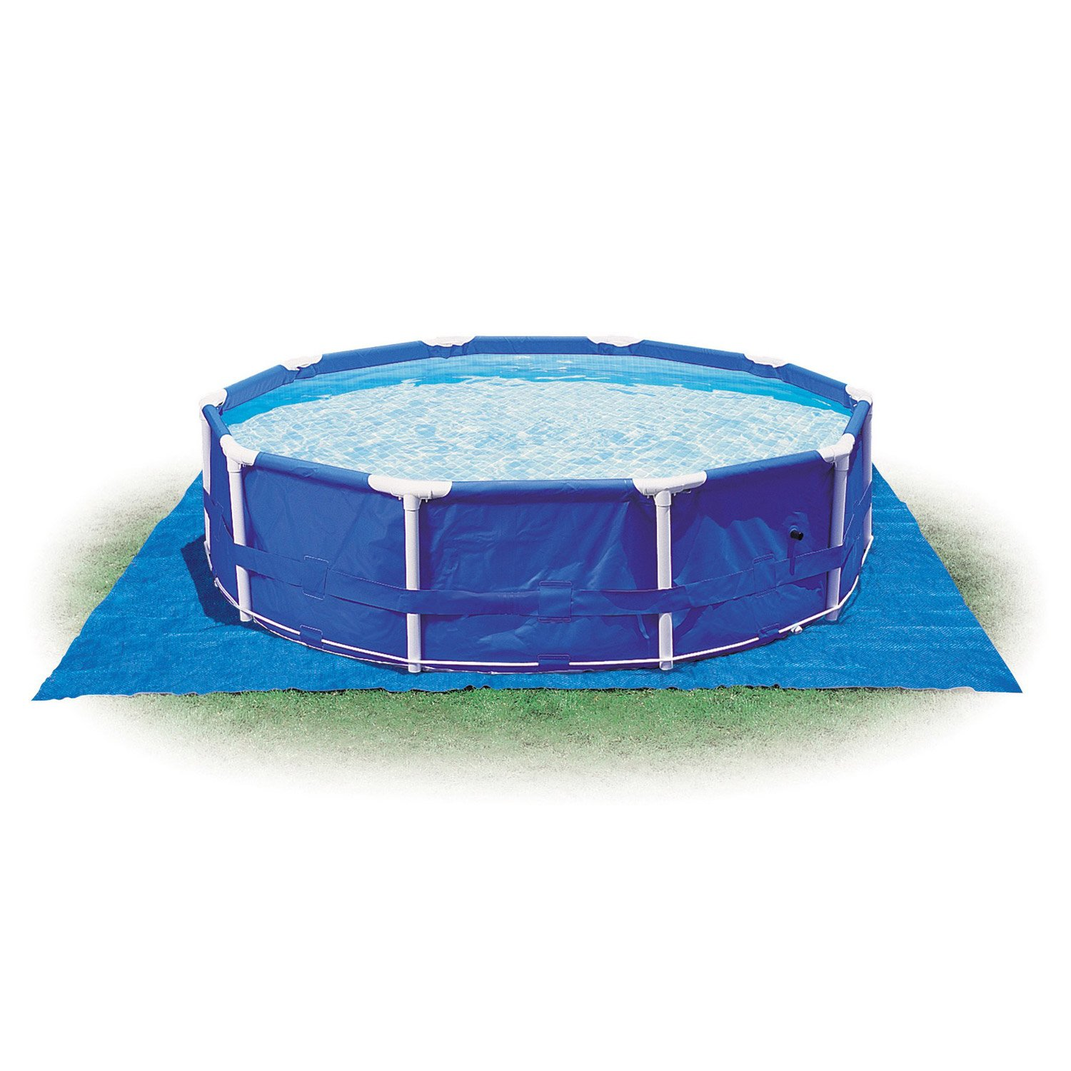 Tapis de sol uni intex carre 472 x 472 cm x for Tapis sol piscine