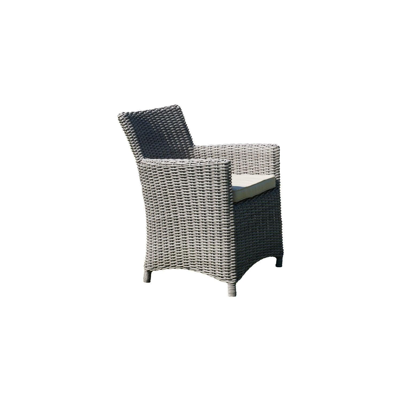 fauteuil de jardin en r sine tress e el gance gris leroy. Black Bedroom Furniture Sets. Home Design Ideas