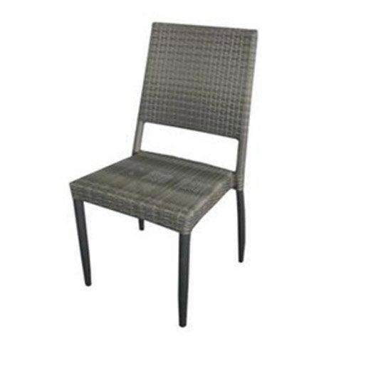 Chaise de jardin en r sine tress e sol o argent leroy merlin - Chaise jardin resine ...