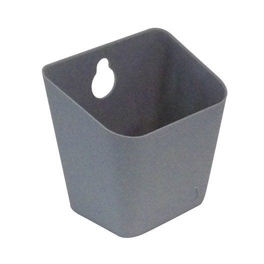 boîte de rangement nomade en plastique gris galet 3, remix | leroy