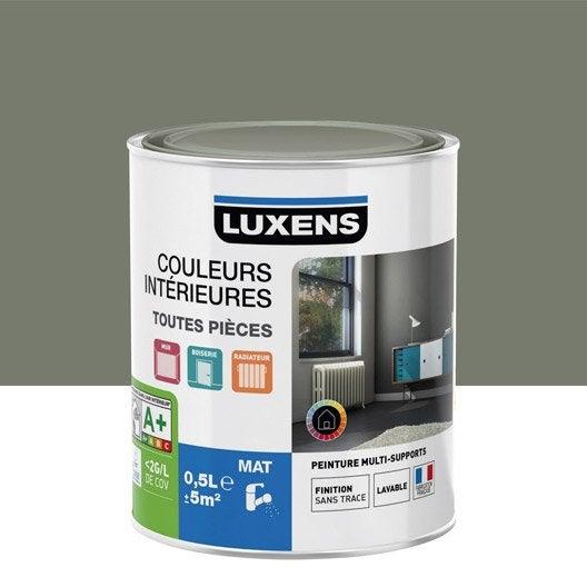 Peinture gris smoke 3 LUXENS Couleurs intérieures mat 0.5 l