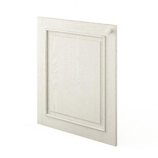 Porte de cuisine blanc cosy x cm leroy merlin for Porte 60 cm de large