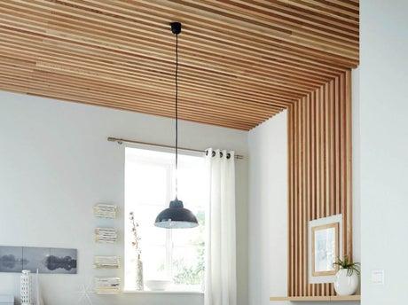 comment r aliser un plafond en tasseaux leroy merlin. Black Bedroom Furniture Sets. Home Design Ideas