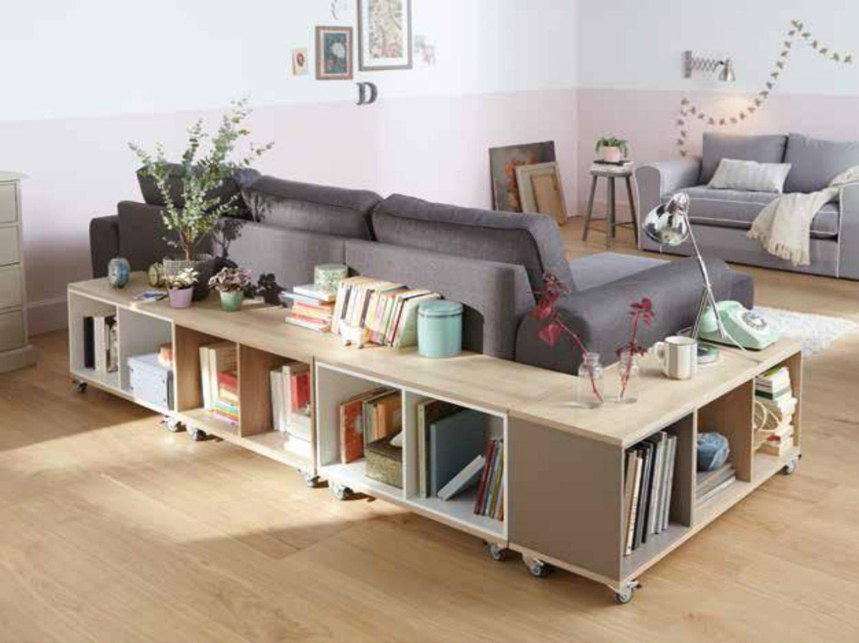 diy r aliser une biblioth que sur roulettes leroy merlin. Black Bedroom Furniture Sets. Home Design Ideas