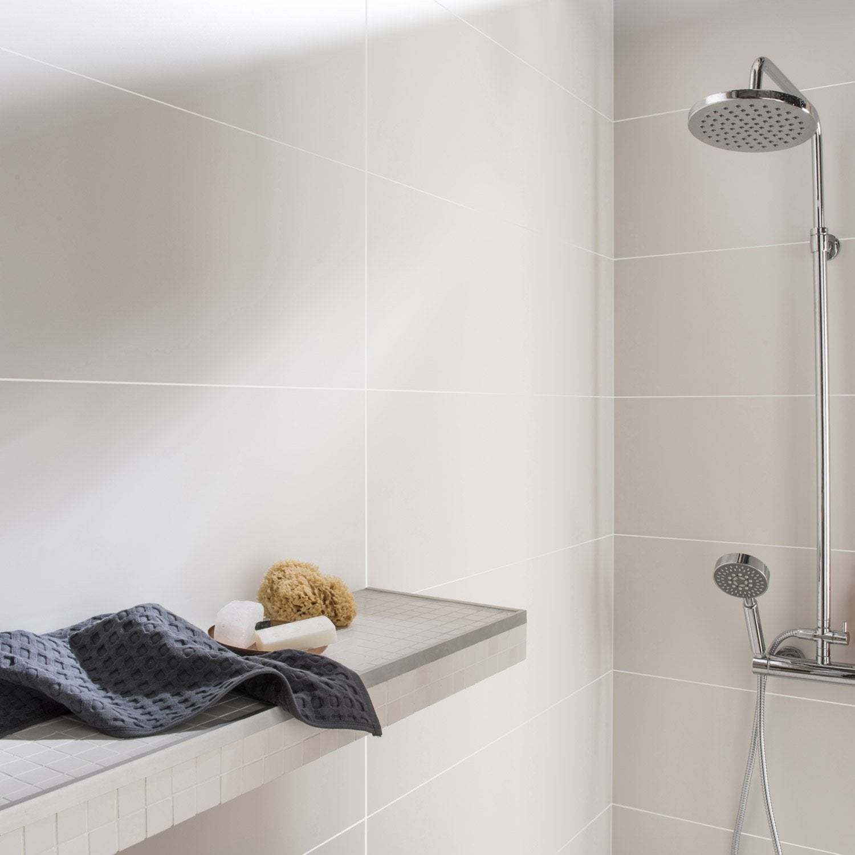 Faïence mur blanc mat mat l.30 x L.90 cm, Purity | Leroy Merlin