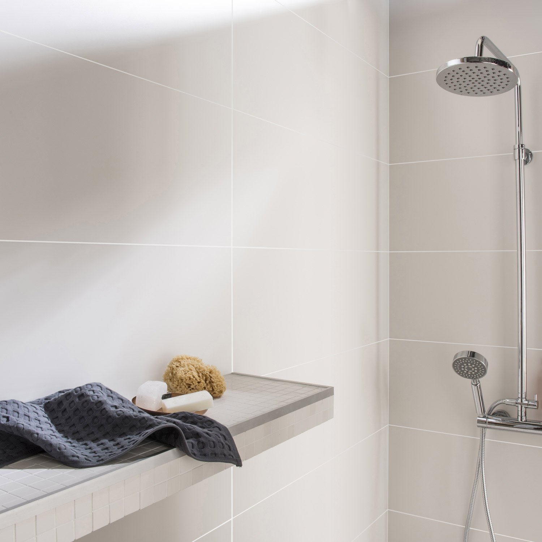 Salle De Bain Mur Blanc ~ fa ence mur blanc mat purity l 30 x l 90 cm leroy merlin