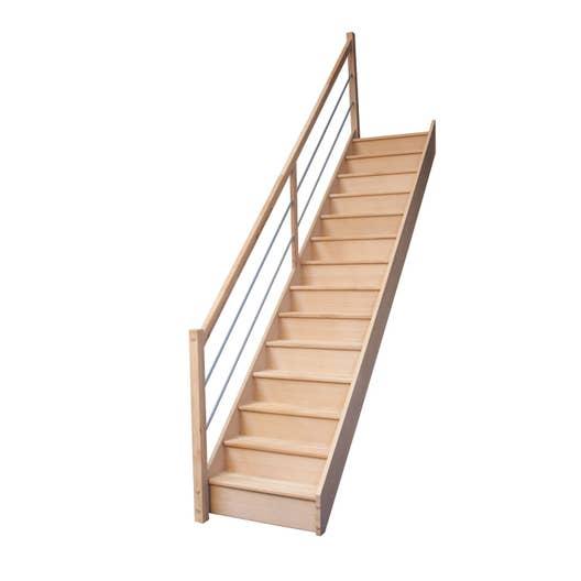 escalier droit deva structure bois marche bois leroy merlin. Black Bedroom Furniture Sets. Home Design Ideas