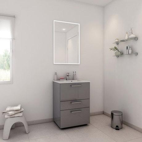 Meuble de salle de bains de 60 à 79, gris / argent, Neo line