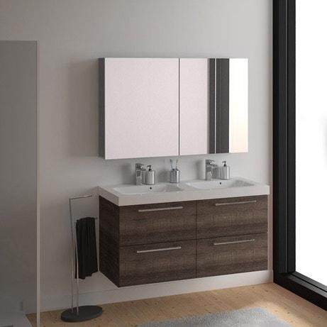 Meuble salle de bain meuble sous vasque colonne miroir - Installer miroir salle de bain ...