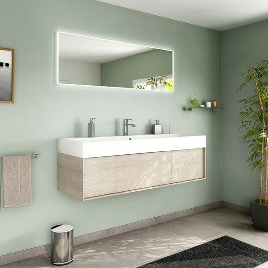 Meuble de salle de bains plus de 120, brun / marron, Neo frame