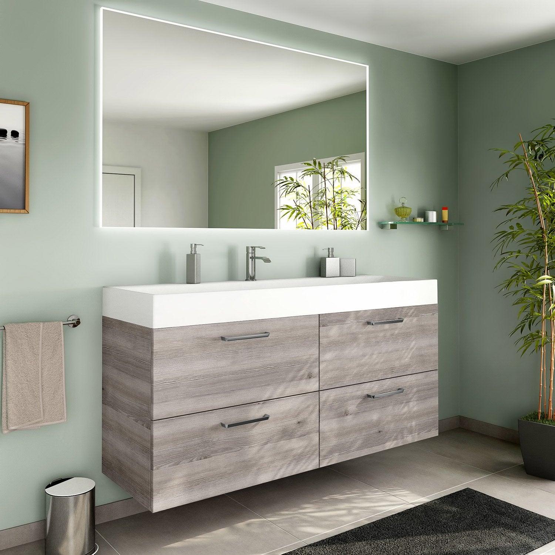 meuble de salle de bains plus de 120 marron neo line. Black Bedroom Furniture Sets. Home Design Ideas