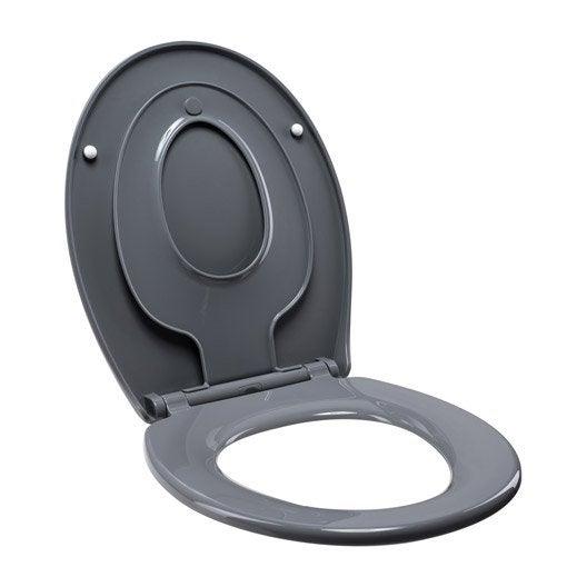 abattant frein de chute d clipsable gris plastique thermodur sensea familia leroy merlin. Black Bedroom Furniture Sets. Home Design Ideas