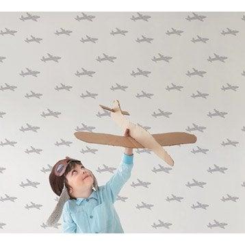 Papier peint tapisserie papier peint intiss et vinyle for Papier peint blanc argent