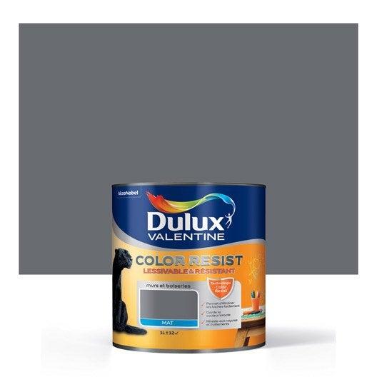 Peinture gris charbon dulux valentine color resist 1 l leroy merlin - Dulux valentine color resist ...