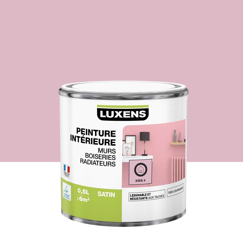Peinture mur, boiserie, radiateur Multisupports LUXENS kiss 4 satiné 0.5 l