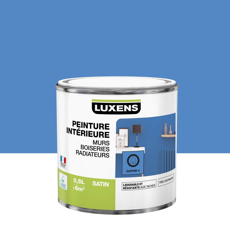 Peinture mur, boiserie, radiateur Multisupports LUXENS, saphir 4, 0.5 l, satin