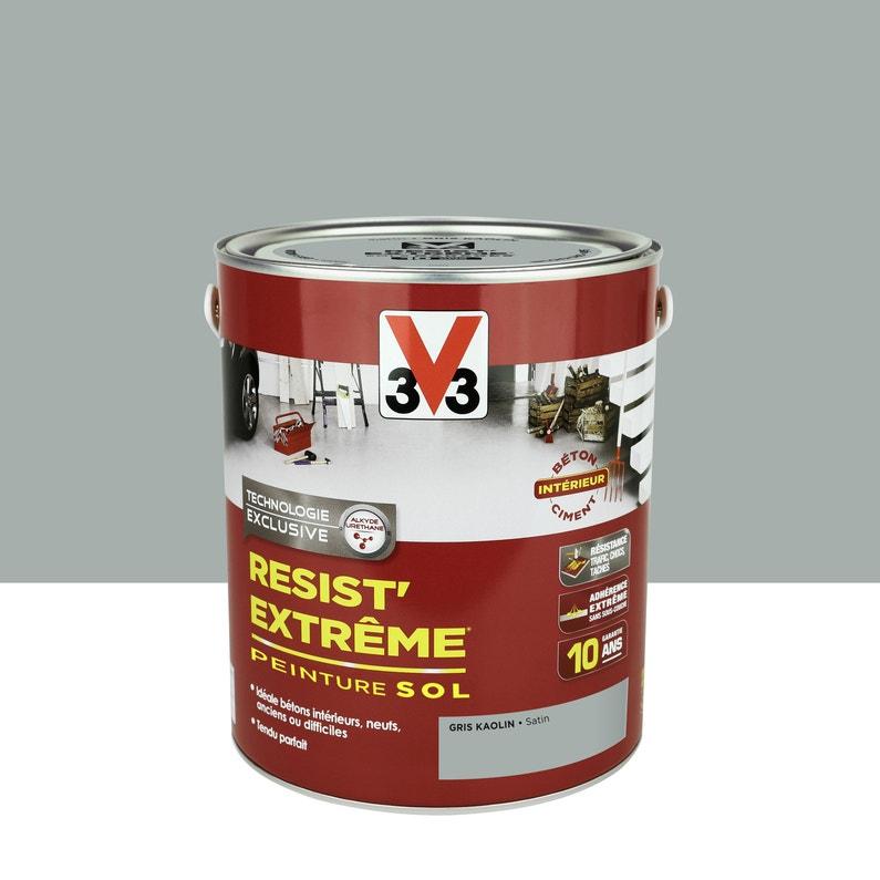 Peinture Sol Extérieur Résist Extrême V33 Gris Kaolin 2 5 L