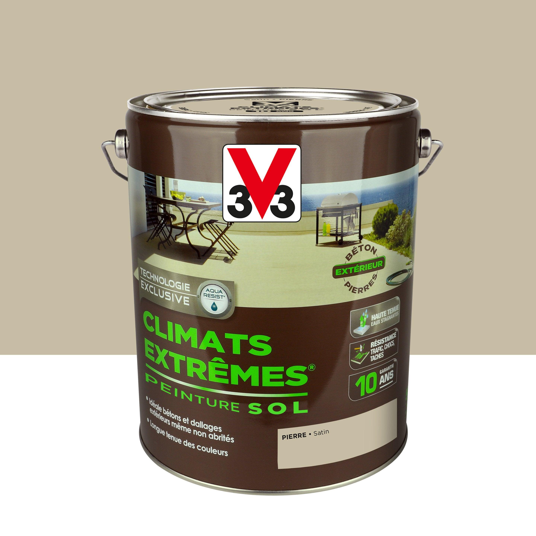Peindre Mur Pierre Exterieur peinture sol extérieur climats extrêmes v33, pierre, 5l