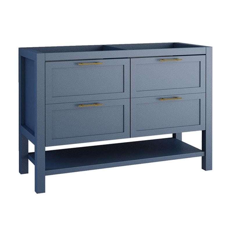 Meuble de salle de bains double vasque, Kende l.120 x H.56.8 x P.45 cm,  bleu, Ke