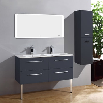 Meuble De Salle De Bain Meuble Vasque Miroir Colonne