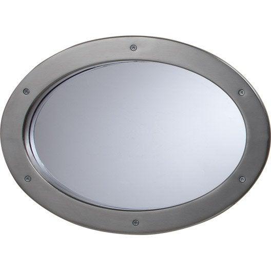 hublot de porte artens ovale en m tal nickel satin 27 x 37 cm leroy merlin. Black Bedroom Furniture Sets. Home Design Ideas