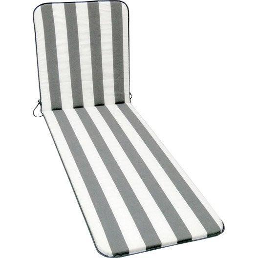 Coussin de bain de soleil blanc / gris Evy JARDIN PRIVE