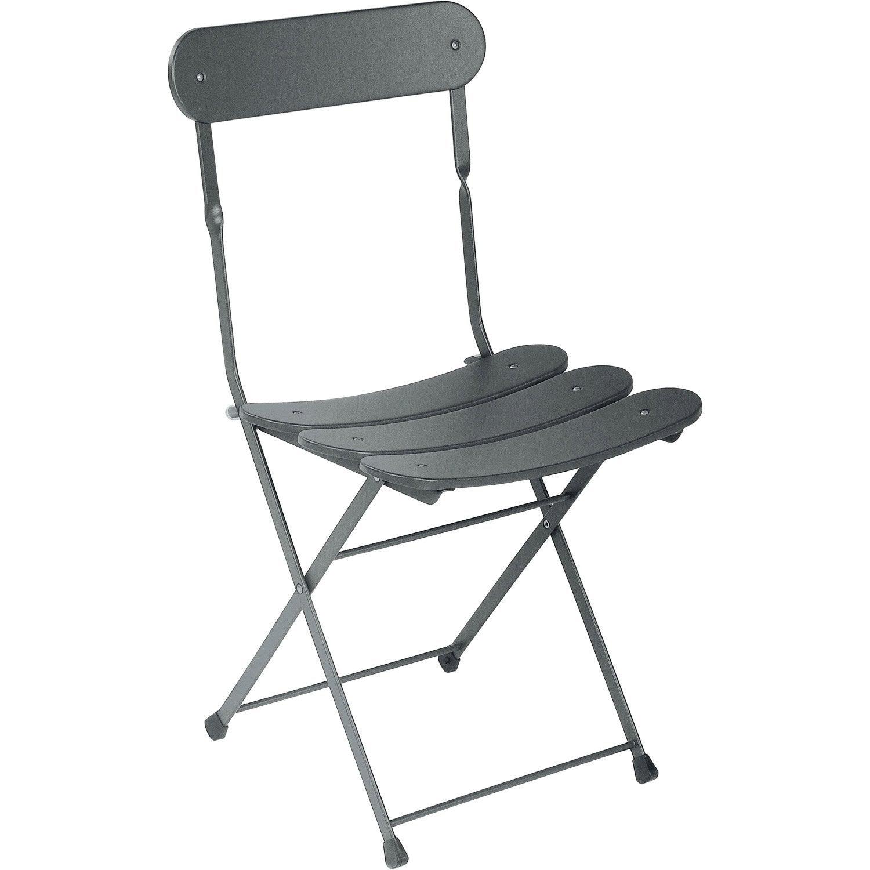 chaise de jardin en acier cassis fer ancien - Chaise En Fer