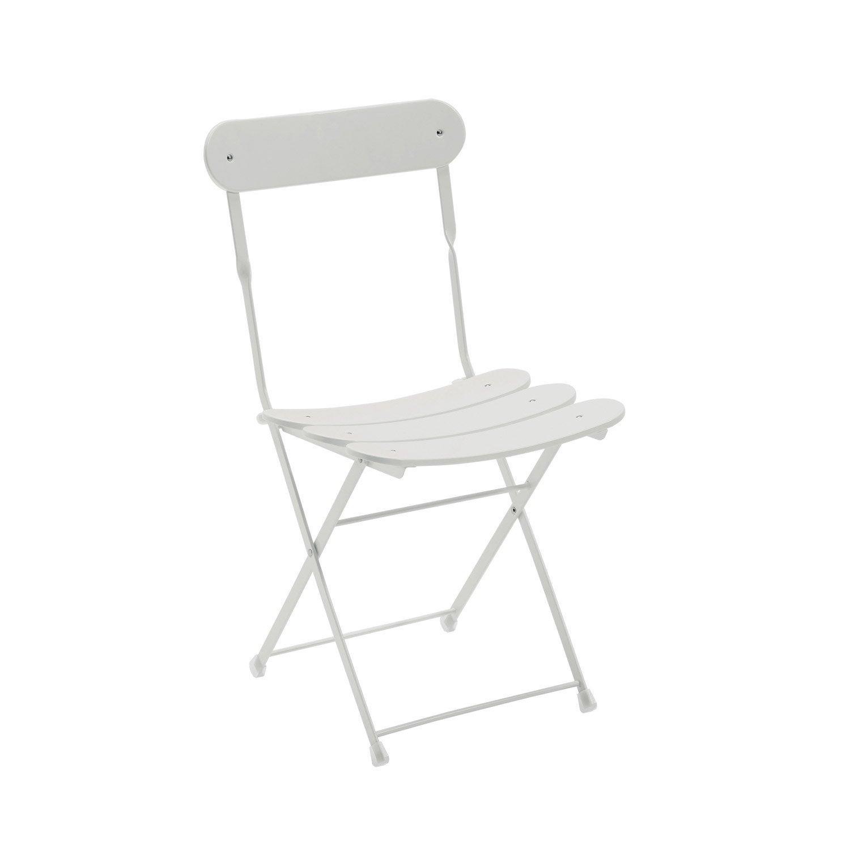 chaise de jardin en acier cassis blanc leroy merlin. Black Bedroom Furniture Sets. Home Design Ideas