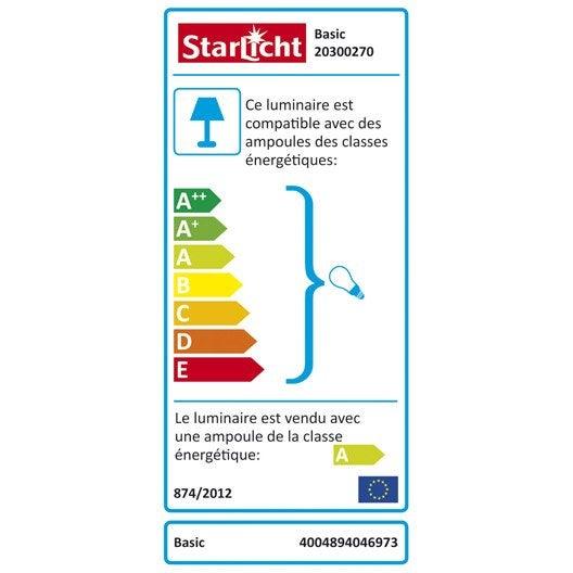 Réglette à fixer Basic STARLICHT, economie d'énergie 1 x 18 W, g13 blanc