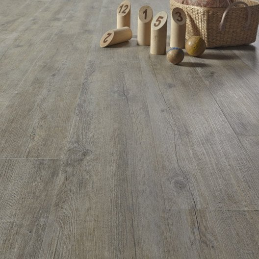 Lame pvc clipsable gris pecan senso lock gerflor leroy for Dalles pvc clipsables gerflor
