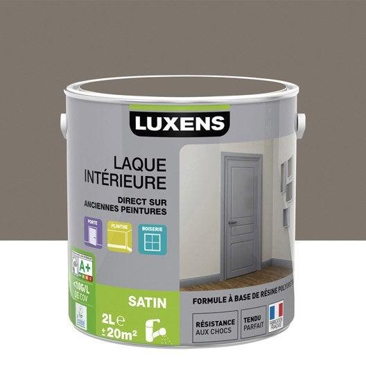 Peinture brun taupe 3 luxens laque satin 2 l leroy merlin - Peinture leroy merlin luxens ...