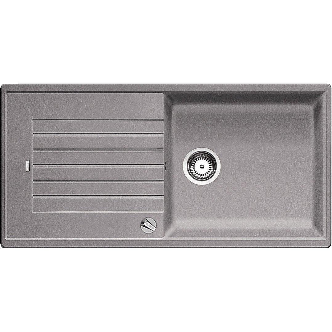 evier encastrer granit et r sine gris m tallis zia 1. Black Bedroom Furniture Sets. Home Design Ideas