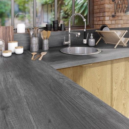 plan de travail stratifi planky noir mat x cm. Black Bedroom Furniture Sets. Home Design Ideas