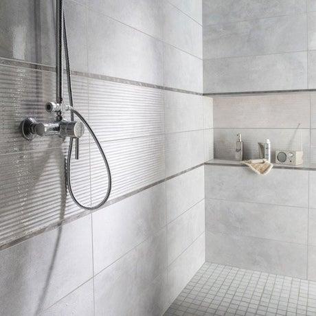 Faïence mur gris brume, Live l.24 x L.69 cm