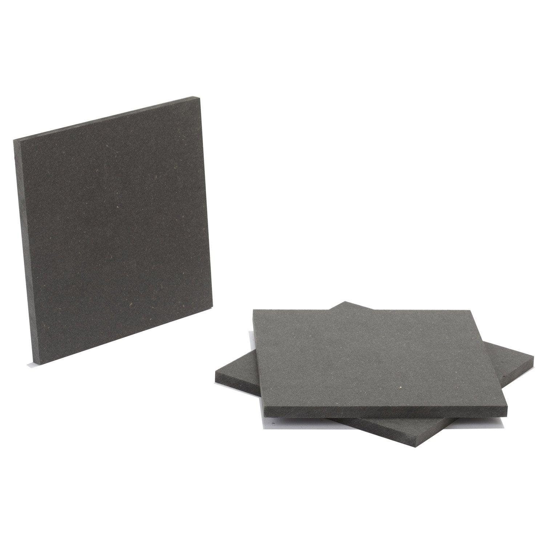 pr d coup m dium mdf teint masse gris anthracite mm x x cm leroy merlin. Black Bedroom Furniture Sets. Home Design Ideas