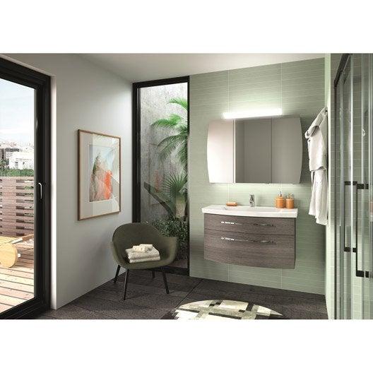 Meuble de salle de bains de 80 à 99, gris / argent, Image